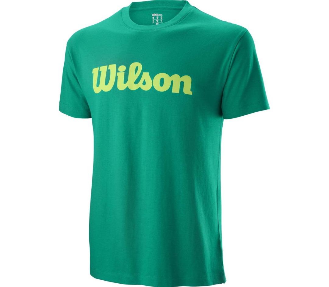 Wilson Cotton T-Shirt Deep Green Uomo 1