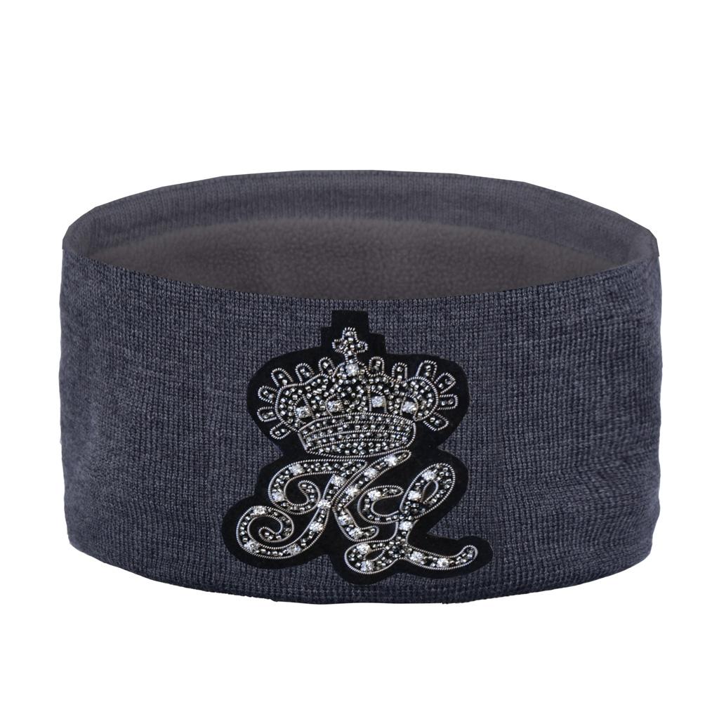 Kingsland Jessie Ladies Knitted Headband Grey