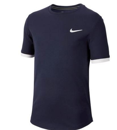 Nike Court Dry Crew T-Shirt Navy Bambino 1