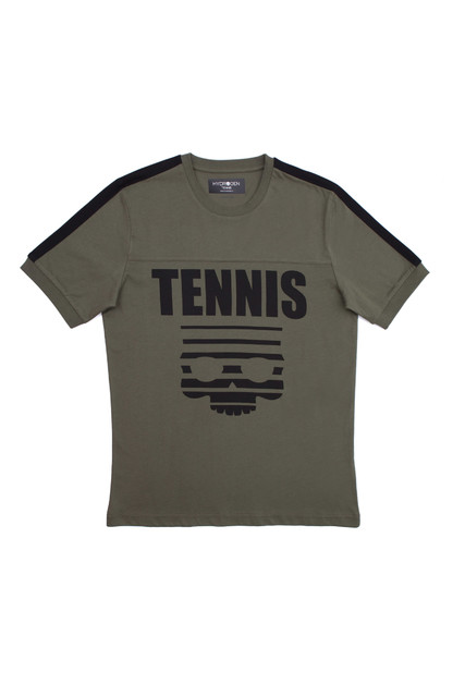 Hydrogen Tennis Skull T-Shirt Verde Uomo