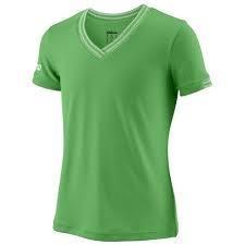 Wilson Team V-Neck verde Bambina 1
