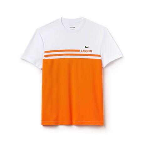 Lacoste Maglietta Bianca - Arancione Uomo