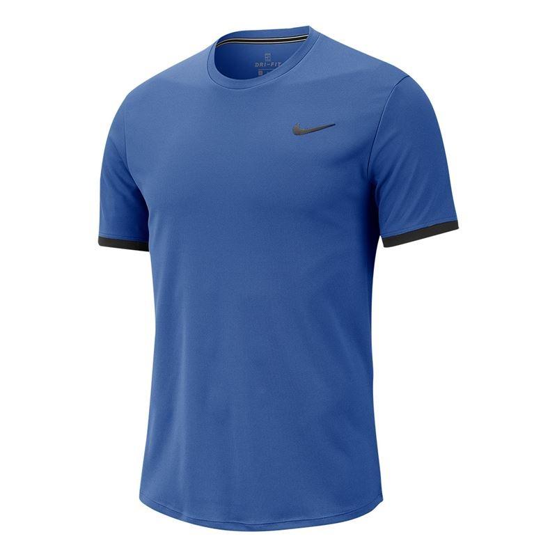 Nike Dry Court T-Shirt Crew Blu Uomo