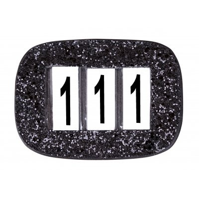 Design Numbers Holders Black Glitter 1