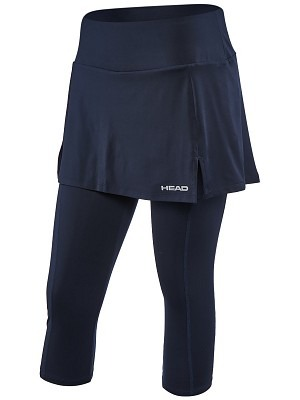 Head Club 3/4 Tight Skort Deep Blu Donna 1