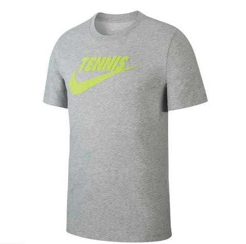Nike Court Tennis Tee Grigio lime Uomo