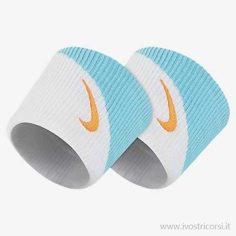 Nike Polsini Jumbo Acqua-Bianco Logo Mandarino (2x)