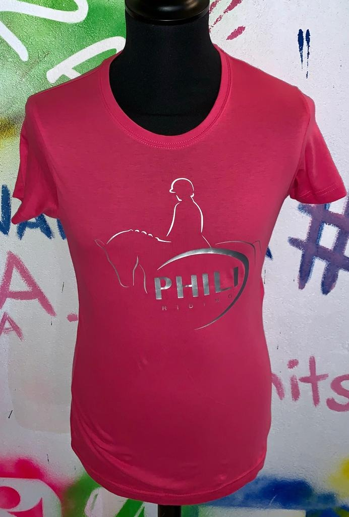 PHILI-RIDING T-Shirt Rosa Donna