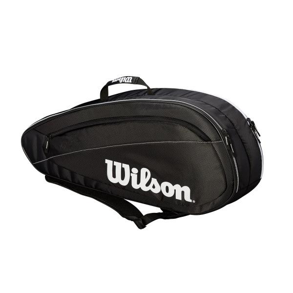Wilson Federer Borsa Team 6 Pack Nero/Bianco