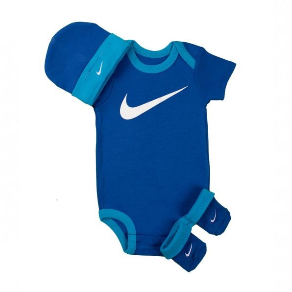 Nike 3 Piece Infant Set 3 Blu 1