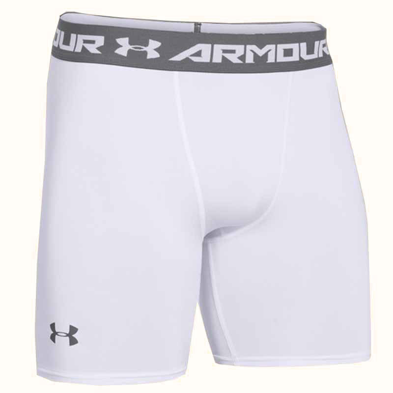 Under Armour Short Heatgear Comp Bianco Uomo