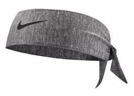 Nike Bandana Grigio Melange Logo Nero