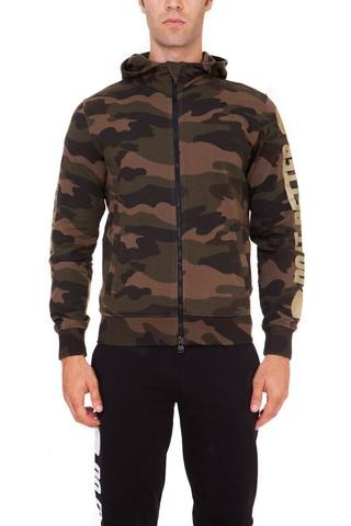 Hydrogen Do It Better Hoodie Camo Verde Uomo 1