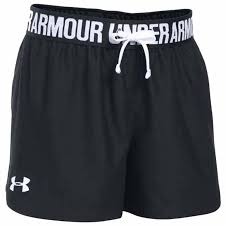 Under Armour Basic Play Up Short Neri Bambina