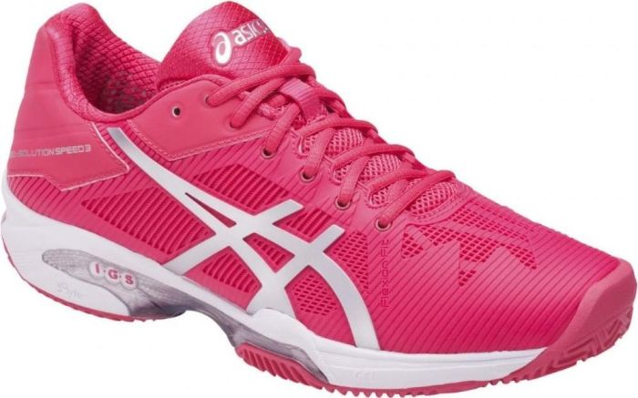 Asics Gel-Solution Speed 3 Clay Rosso-Bianco Donna