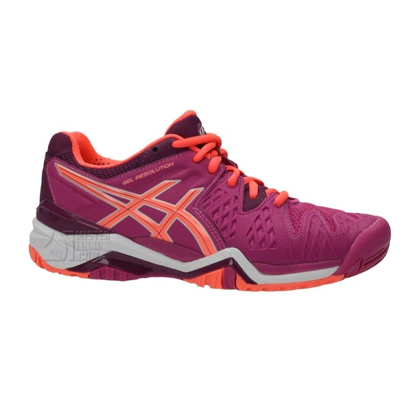 Asics Gel-Resolution 6 AC Berry-Flash Coral Donna