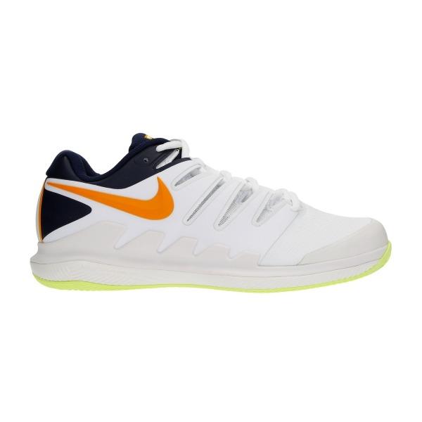 Nike Zoom Vapor X Clay Bianco-Nero-Arancione Uomo 1