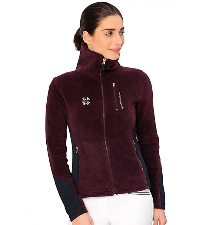 Spooks Cecilia Fleece Jacket Burgundy