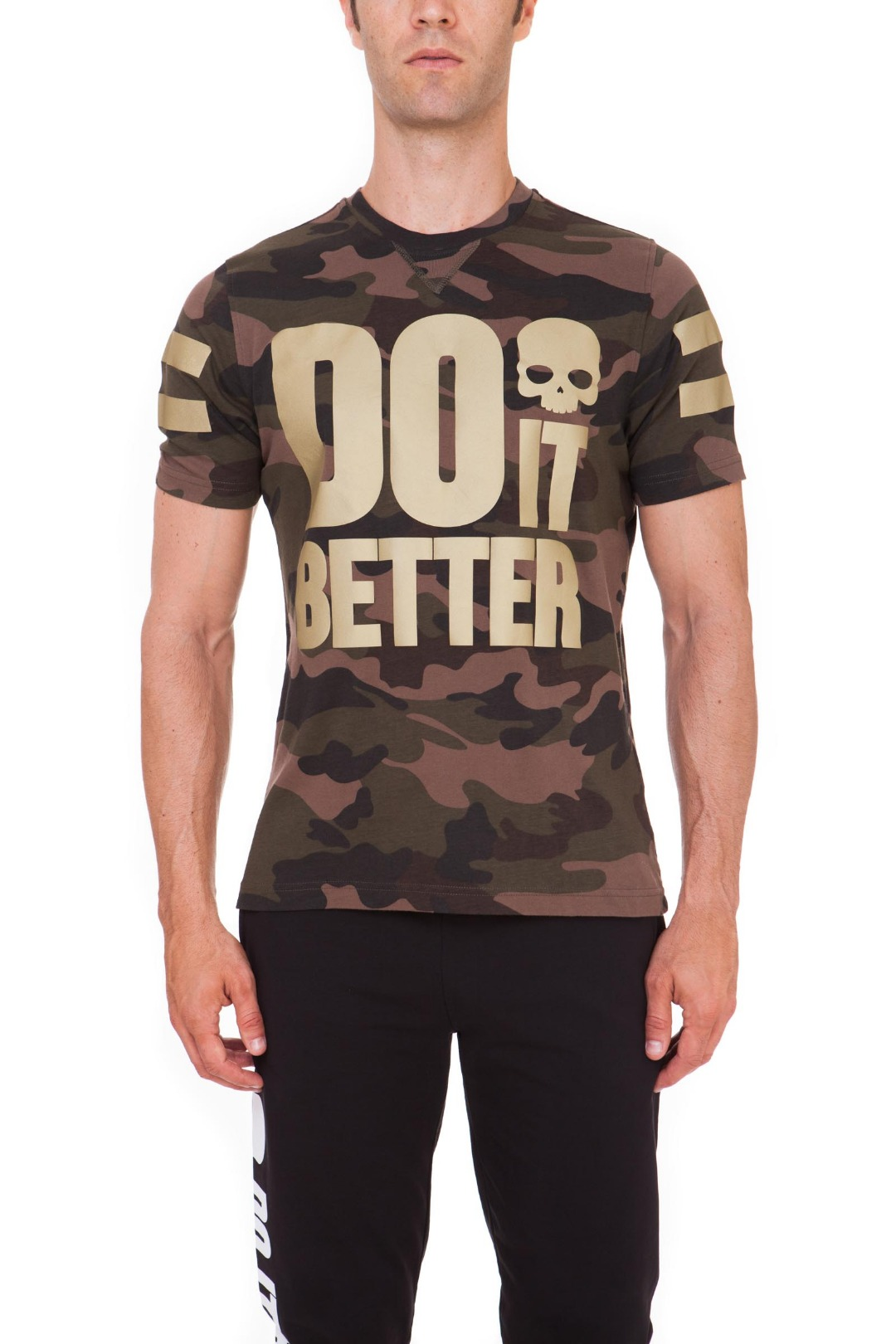 Hydrogen T-Shirt Do It Better Camo Militare Uomo