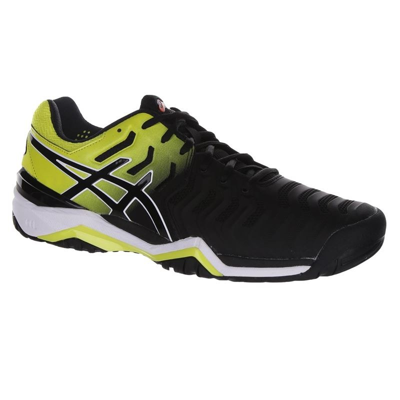 Asics Gel-Resolution 7 AC Nero-Giallo Uomo