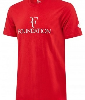 Nike Roger Federer T-Shirt Foundation Rosso Uomo 1