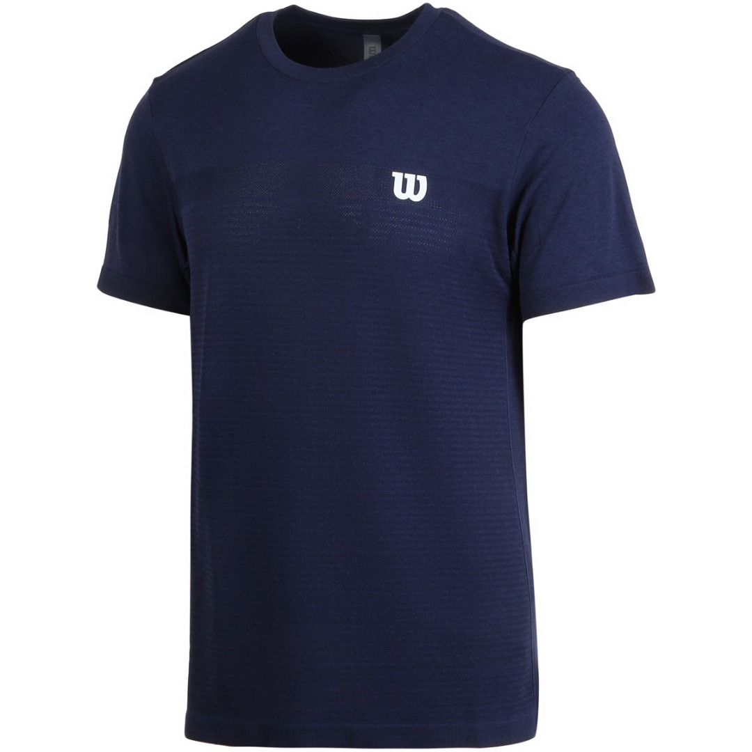 Wilson T-Shirt Competition Seamless Crew Peacoat Uomo 1