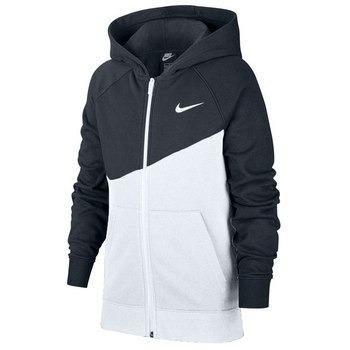 Nike Sportswear Hoody White-Black Bambino 1
