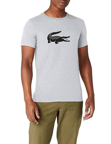 Lacoste T-Shirt Logo Grigio Uomo 1