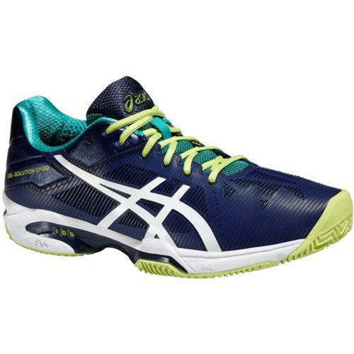 Asics Gel-Solution Speed 3 Clay Blu-Bianche-Lime Uomo