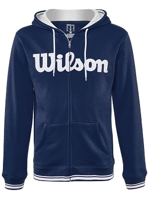 Wilson Team Script FZ Hoody Blu Uomo