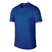 Nike Dry Court T-Shirt Crew Blu-Rosa Uomo 1