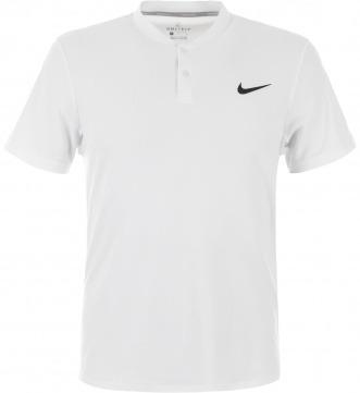 Nike T-Shirt con Collo alla Coreana Bianco Uomo