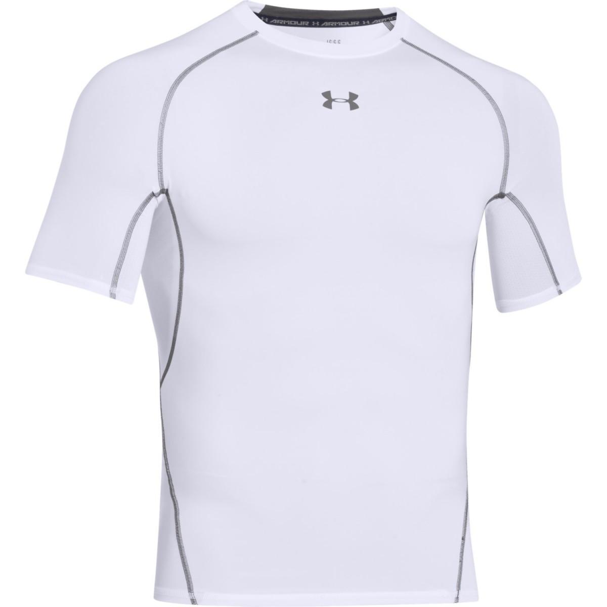 Under Armour T-Shirt Heatgear Bianca Uomo 1