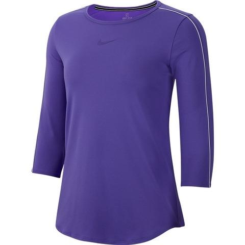 Nike Court 3/4 Sleeve Top Viola Donna 1