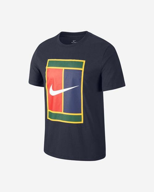 Nike T-Shirt Heritage Logo Navy Uomo