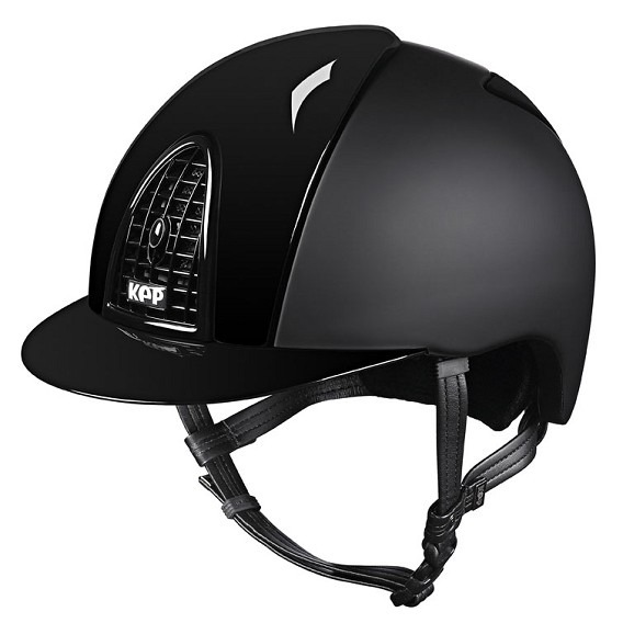 Kep Italia Cap Cromo Textile with Polish Grid Black