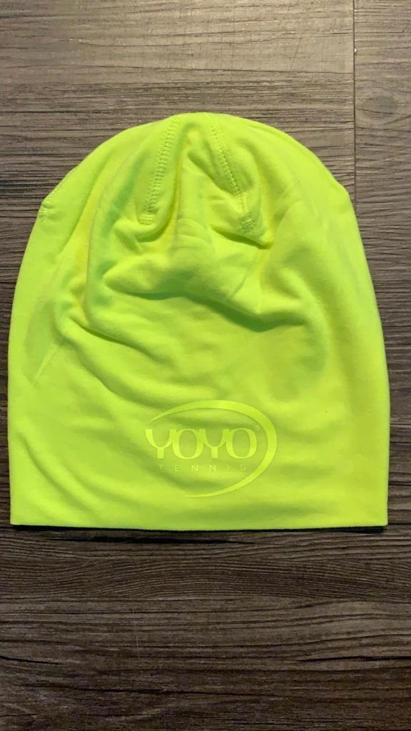 YOYO-TENNIS Cuffia Lime con Logo Giallo