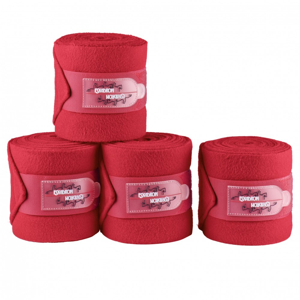 Eskadron Bandagen Fleece Rot