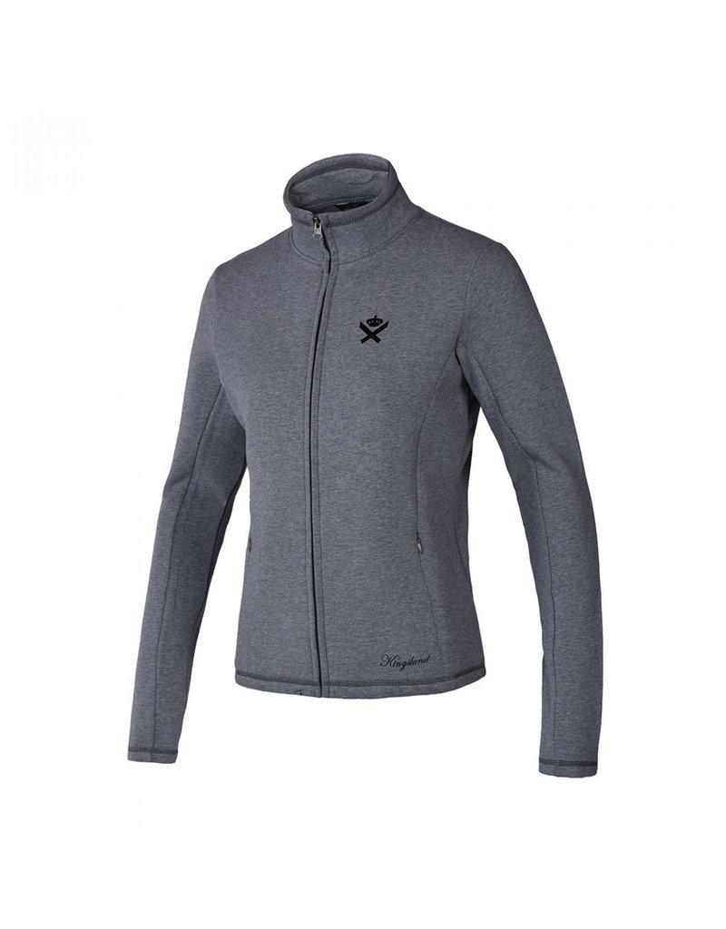 Kingsland Klkaawhia Sweat Jacket Grey Donna