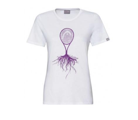 Head Roots T-shirt Bianco Donna 1