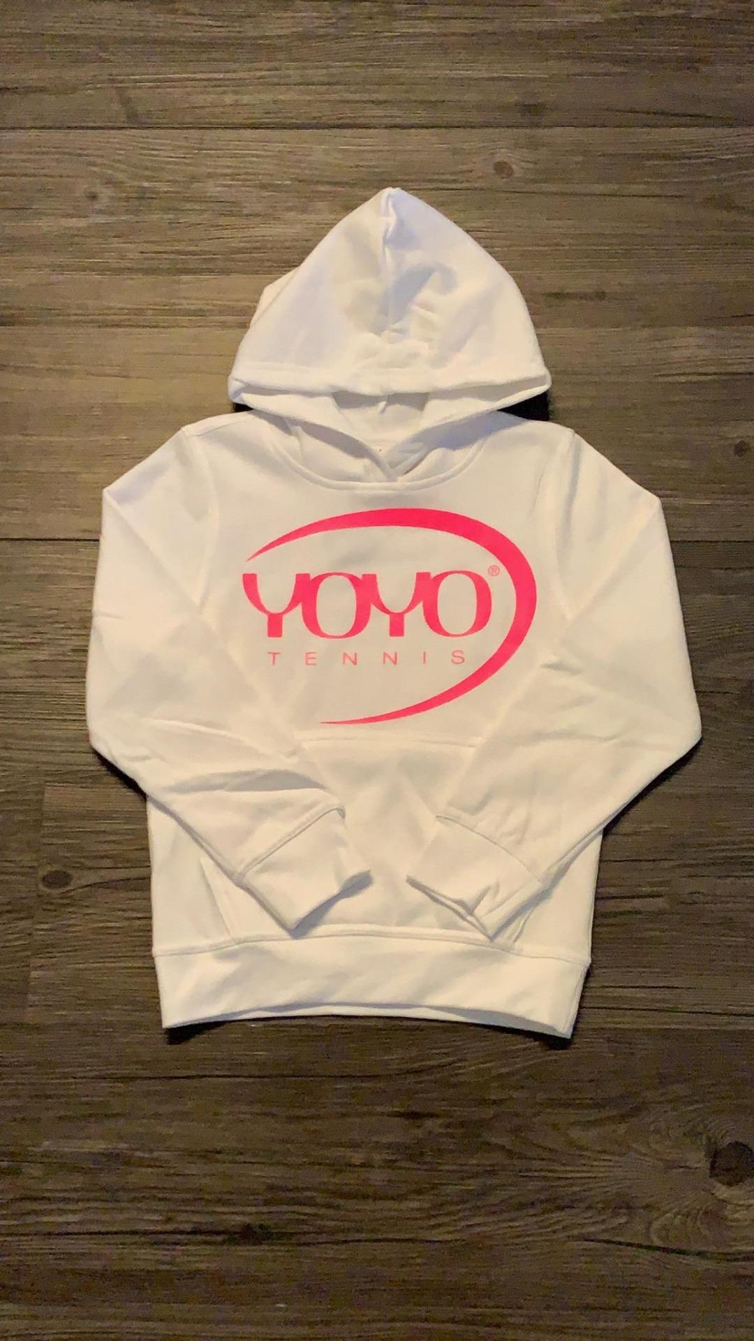 YOYO-TENNIS Hoody con Logo Rosa Bambino