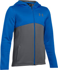 Under Armour Fall Zip Hoodie Grey/Blue Bambino