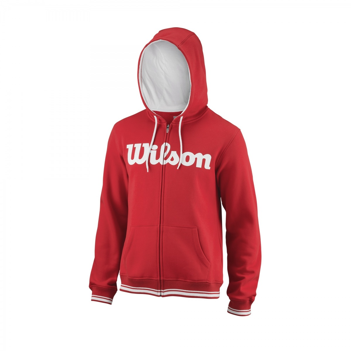 Wilson Team Script FZ Hoody Rosso Uomo 1