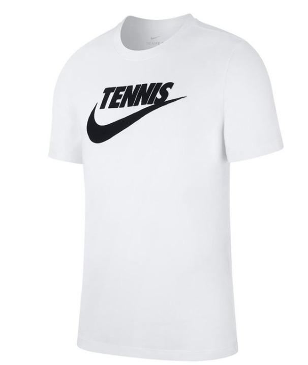 Nike Court Tennis Tee Bianco Uomo