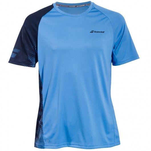Babolat Perf Crew Neck T-shirt Blu/Nero Bambino