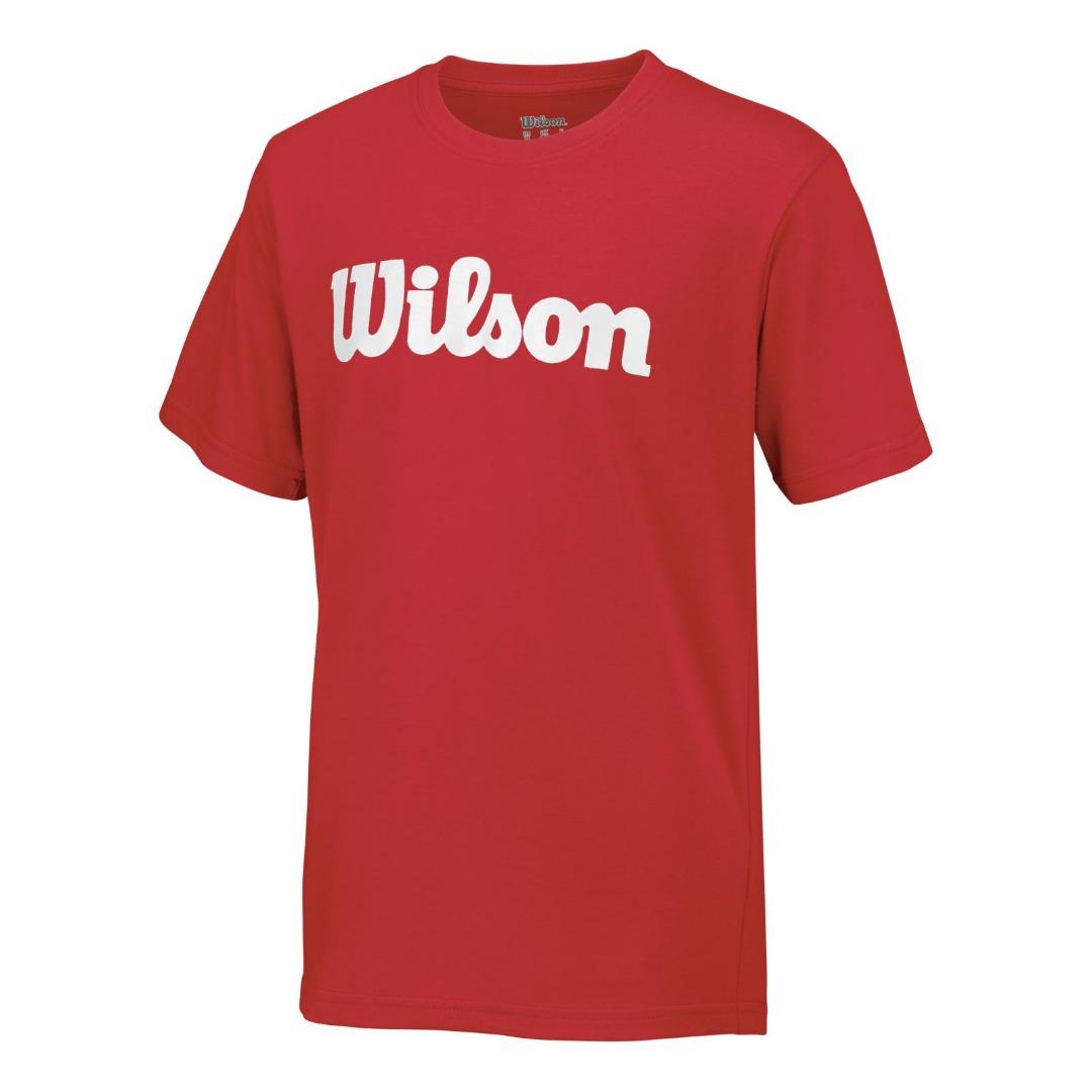 Wilson T-Shirt Cotton Tee Rosso Bambino 1