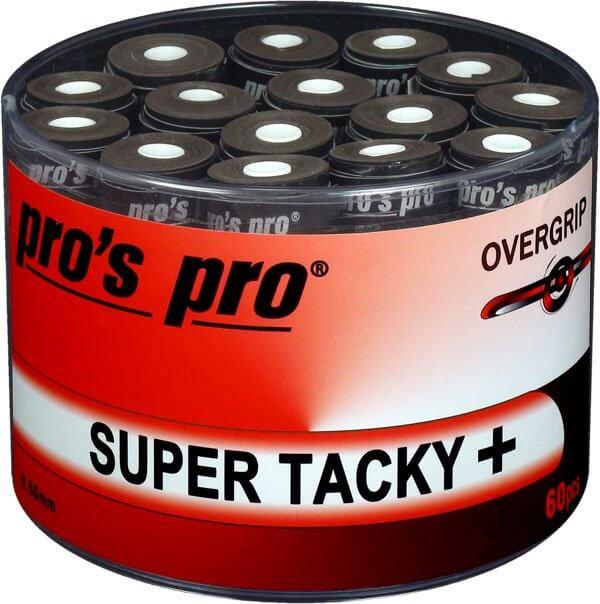 Pro's Pro Overgrip Super Tacky Plus Nero 0.50 mm (60x) 1