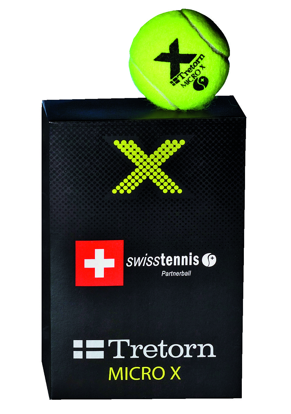 Tretorn Micro X Gialle (6x) Swiss Tennis