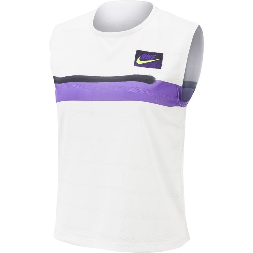 Nike Tank Court Slam Bianco Donna