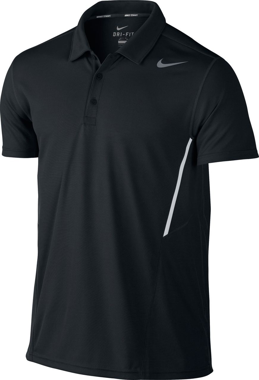 Nike Polo Basic Power UV Nero Uomo